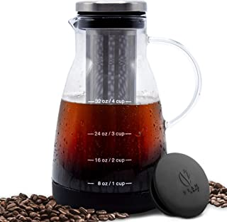 Bean Envy Cold Brew Coffee Maker – 32 oz – Premium Quality Glass –..