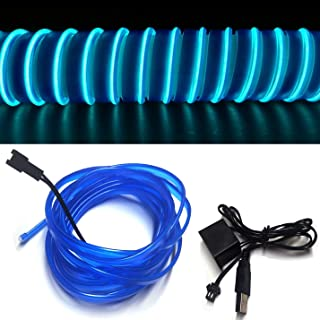 M.best Neon Light El Wire for Automotive Car Interior Decoration with 6mm Sewing Edge..