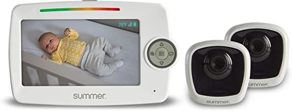 """Summer LookOut Duo 5"""" LCD Video Baby Monitor (2 Cameras) – Digital Zoom Baby Monitor.."""