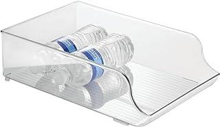 iDesign Plastic Refrigerator and Freezer Storage Organizer Bin Water Bottle and Drink..