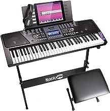 RockJam, RJ561 Kit 61 Key Digital Bench Keyboard Stand Headphones Note Stickers and..