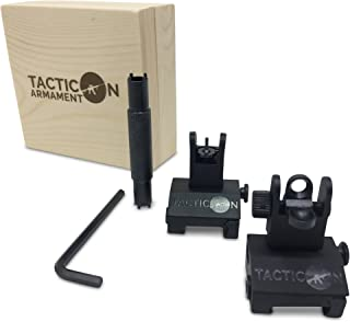 Tacticon Armament Flip Up Iron Sights for Rifle Includes Front Sight Adjustment Tool |..