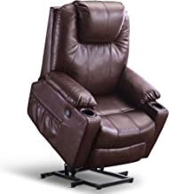 Mcombo Large Power Lift Recliner Chair with Massage and Heat for Elderly Big and Tall..