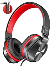 PeohZarr On-Ear Headphones with Microphone, Lightweight Folding Stereo Bass Headphones..