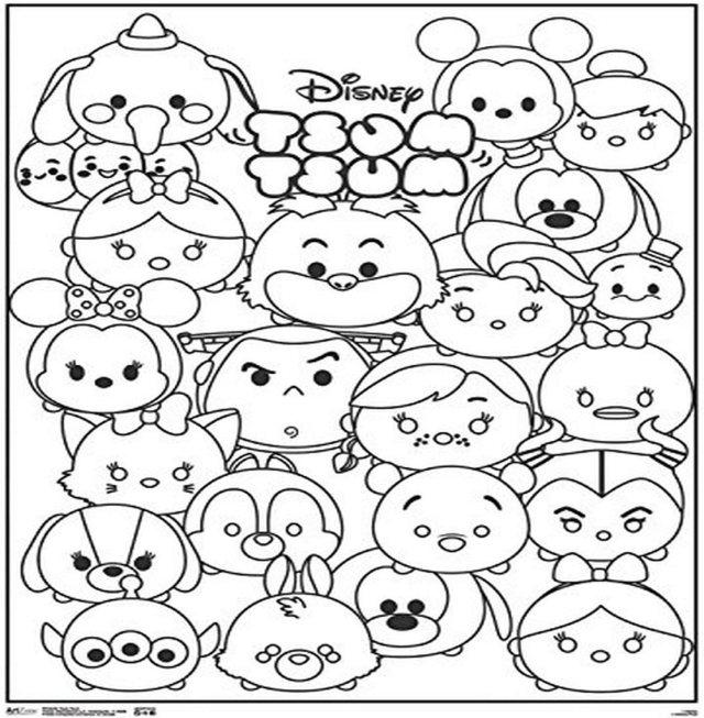 "Amazon.com: Trends International Disney Tsum 14""x14"" Coloring"