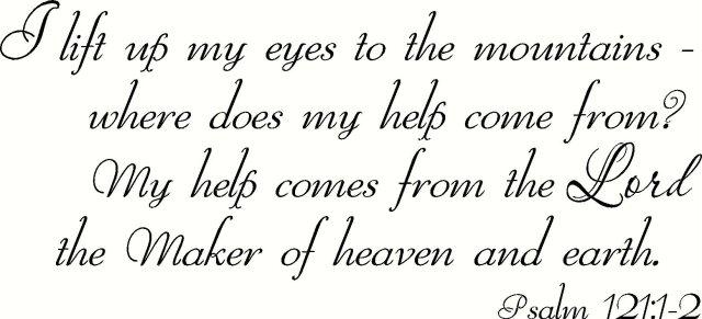 Amazon.com: Psalm 200:200-20 Wall Art, I Lift up My Eyes to the