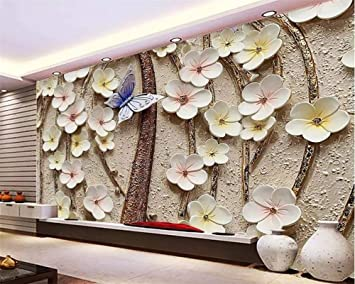 Buy Avikalp Exclusive Awz0264 3d Wallpaper 3d Flower Butterfly Tv Background Walls Home Decoration Living Room Bedroom Hd 3d Wallpaper 213cm X 182cm Online At Low Prices In India Amazon In