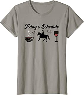 Today's Schedule – Coffee Horseback Riding & Wine