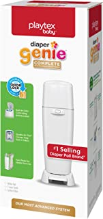 Playtex Diaper Genie Complete Pail with Built-In Odor Controlling Antimicrobial, Includes..