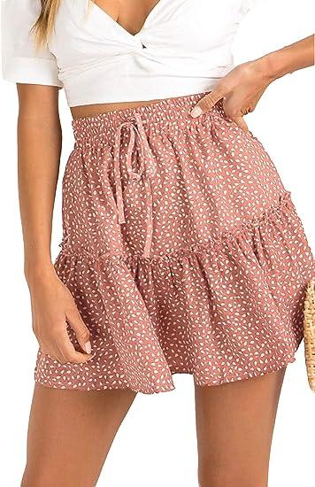 cute boho skirts, blush coloured short skirt