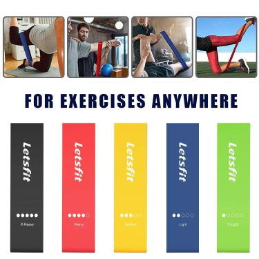 letsfit resistance loop bands exercises and Review