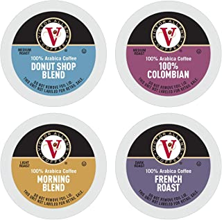 Donut Shop, Morning Blend, 100% Colombian, and French Roast Variety Pack for K-Cup Keurig..