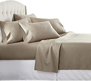 Danjor Linens 6 Piece Hotel Luxury Soft 1800 Series Premium Bed Sheets Set, Deep Pockets,..