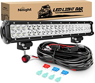 Nilight LED Light Bar 20 Inch 126W Spot Flood Combo Led Off Road Lights with 16AWG Wiring..