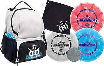 Dynamic Discs Disc Golf Starter Set | Cadet Backpack Disc Golf Bag Included | 17 + Disc..