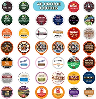 Coffee Pods Variety Pack Sampler, Assorted Single Serve Coffee for Keurig K Cups Coffee..