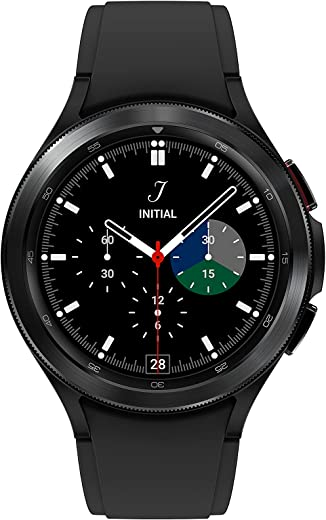 SAMSUNG Galaxy Watch 4 Classic 42mm Smartwatch with ECG Monitor Tracker for Health Fitness Running Sleep Cycles GPS Fall Detection LTE US Version, Black
