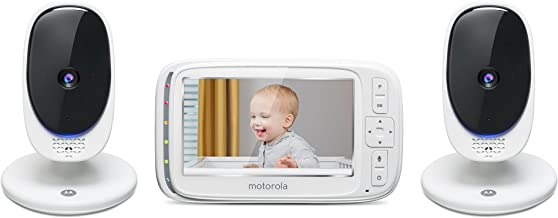 """Motorola Comfort 50-2 Video Baby Monitor 5"""" LCD Color Display and 2 Cameras with.."""