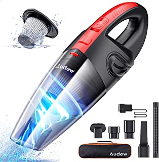 Audew Cordless Handheld Vacuum, Upgraded Hand Vacuum Cordless Rechargeable Pet Hair..