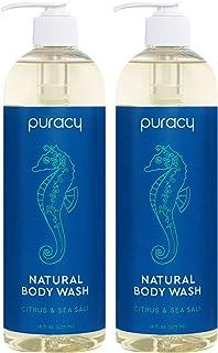 Puracy Body Wash, Citrus & Sea Salt, Natural Bath & Shower Gel for Men and Women,..