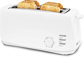 Elite Gourmet ECT-4829 Maxi-Matic 4 Slice Long Toaster 6 Toast Settings, Defrost, Reheat,..
