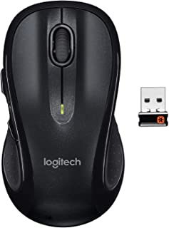 Logitech M510 Wireless Computer Mouse – Comfortable Shape with USB Unifying Receiver,..