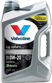 Valvoline – 881150 Advanced Full Synthetic SAE 0W-20 Motor Oil 5 QT