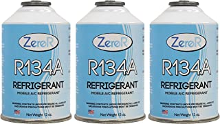 ZeroR R134a Refrigerant for MVAC use in a 12oz Self-Sealing Container (3 Pack)