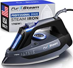 Professional Grade 1700W Steam Iron for Clothes with Rapid Even Heat Scratch Resistant..