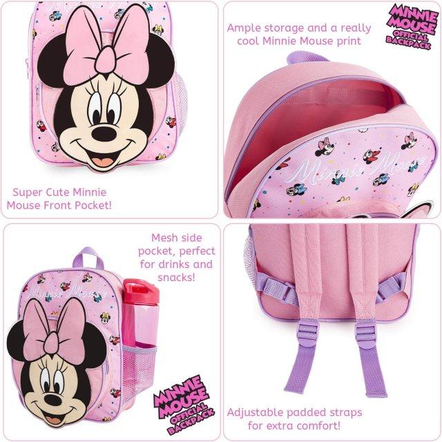 Disney Cartable Maternelle Fille Minnie, Petit Sac À Dos avec