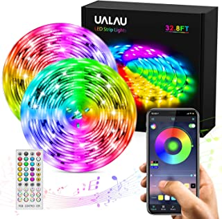 LED Strip Lights, UALAU APP Control 32.8ft LED Light Strip with Music Sync, 40 Keys..