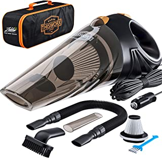 Portable Car Vacuum Cleaner: High Power Corded Handheld Vacuum w/ 16 foot cable –..