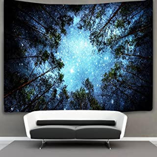 Forest Starry Tapestry Wall Hanging 3D Printing Forest Tapestry Galaxy Tapestry Forest..