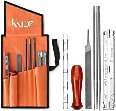 Katzco Chainsaw Sharpener File Kit – Contains 5/32, 3/16, and 7/32 Inch Files, Wood..