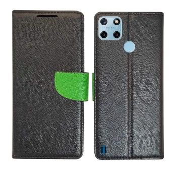 AD Enterprises Black MRC Flip Cover for Realme C25Y