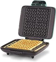 DASH DNMWM400 No Mess Maker Machine Waffle Iron, 1200 Watt, Aqua