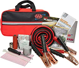 Lifeline AAA Premium Road Kit, 42 Piece Emergency Car Kit with Jumper Cables, Flashlight..