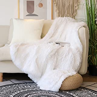 "Decorative Extra Soft Faux Fur Throw Blanket 50"" x 60"",Solid Reversible Fuzzy.."