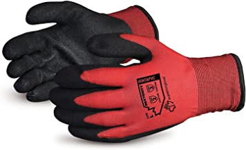 Superior Winter Work Gloves – Fleece-Lined with Black Tight Grip Palms (Cold..