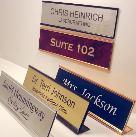 Personalized Office Name Plate With Wall or Desk Holder - 2x8 - CUSTOMIZE-  Buy Online in Bangladesh at Desertcart - 2615995.