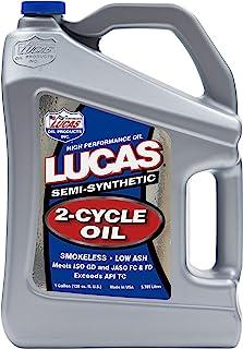 Lucas Oil 10115 Semi-Synthetic 2-Cycle Oil – 1 Gallon Jug