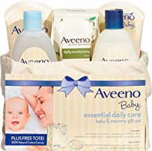 Aveeno Baby Essential Daily Care Baby & Mommy Gift Set featuring a Variety of Skin..