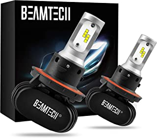 BEAMTECH H13 LED Bulb, 50W 6500K 8000Lumens Extremely Brigh (9008 Hi/Lo) CSP Chips..