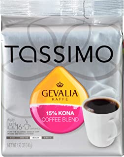 Gevalia 15% Kona Blend Coffee T-Discs for Tassimo Brewing Systems (16 T-Discs)