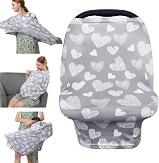 Nursing Cover Breastfeeding Scarf – Baby Car Seat Covers, Infant Stroller Cover,..