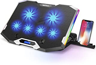 """Sponsored Ad - TopMate C11 Laptop Cooling Pad Silver Wing Cooler, RGB Lighting Laptop Cooler Fan Compatible 11-17.3"""" Lapto..."""
