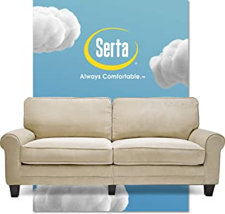 Serta Copenhagen Sofa Couch for Two People, Pillowed Back Cushions and Rounded Arms,..
