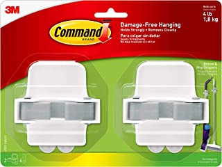 Command Broom and Mop Grippers, 2-Grippers, 4-Strips (17007-HW2ES), Organize Damage-Free