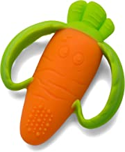 Infantino Lil' Nibble Teethers Carrot – Silicone Soft-Textured teether for..