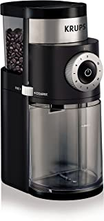 KRUPS 8000035978 GX5000 Professional Electric Coffee Burr Grinder with Grind Size and Cup..
